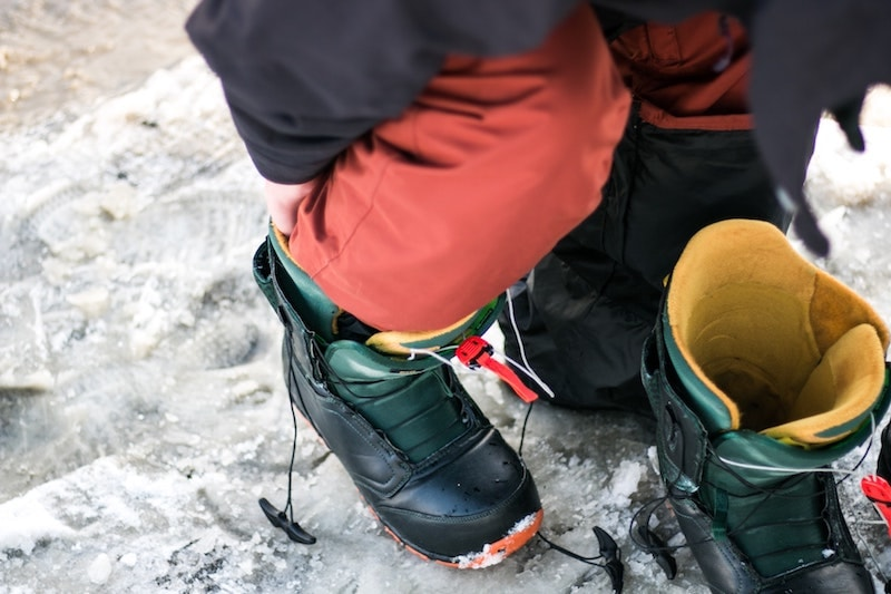 Snowboard boots top