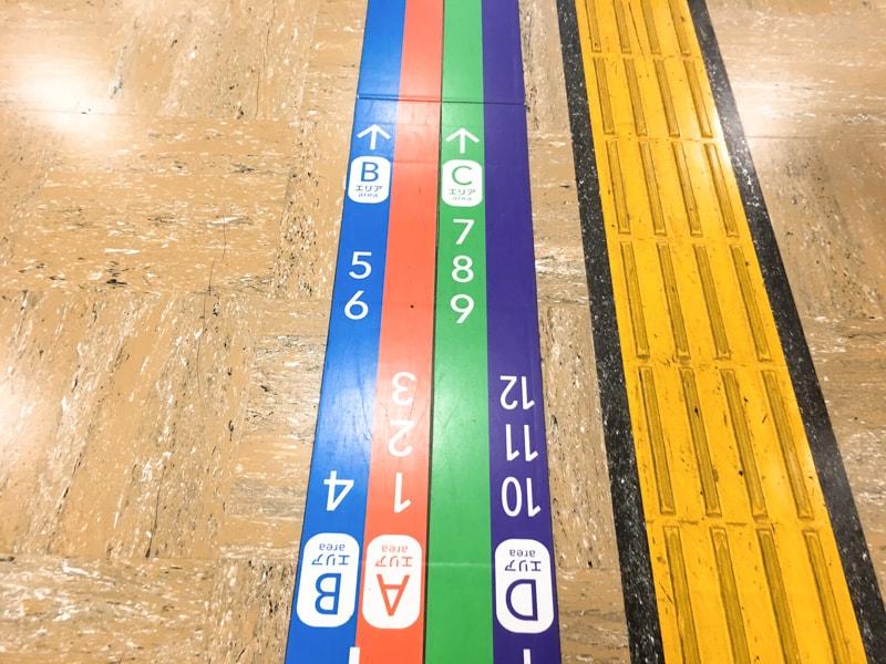 Shinjuku busterminal 9 乗り場案内2