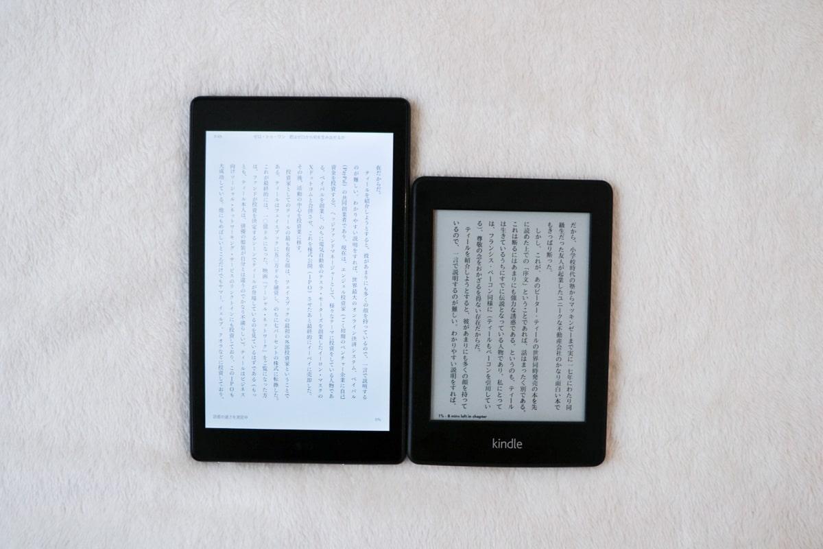 Kindle 4 明るさ比較