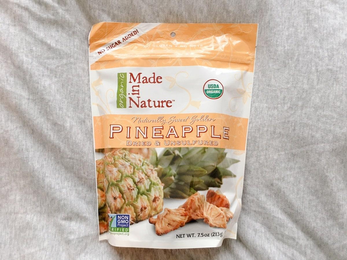 Iherb snack 5ドライパイナップル