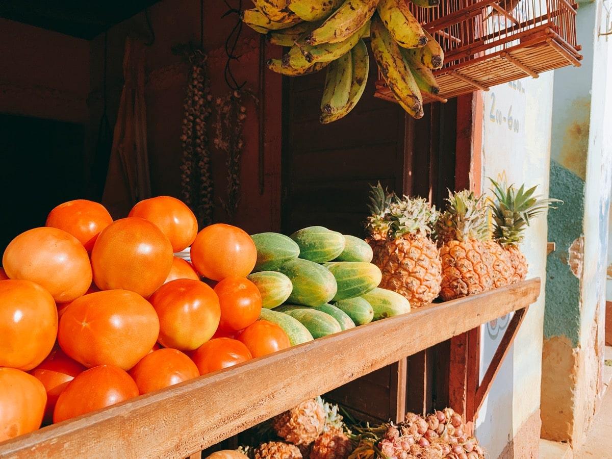 Trinidad 26フルーツ屋台