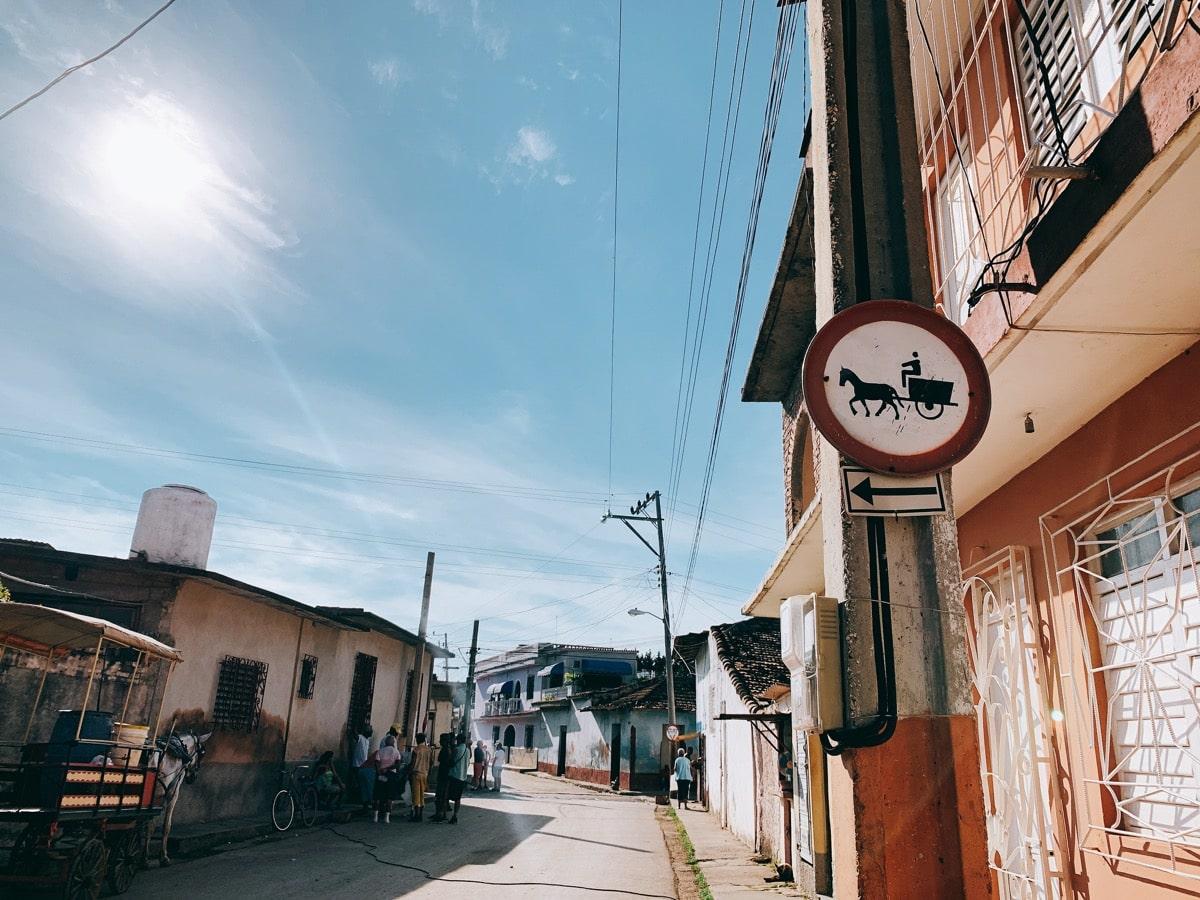 Trinidad 33馬車の標識