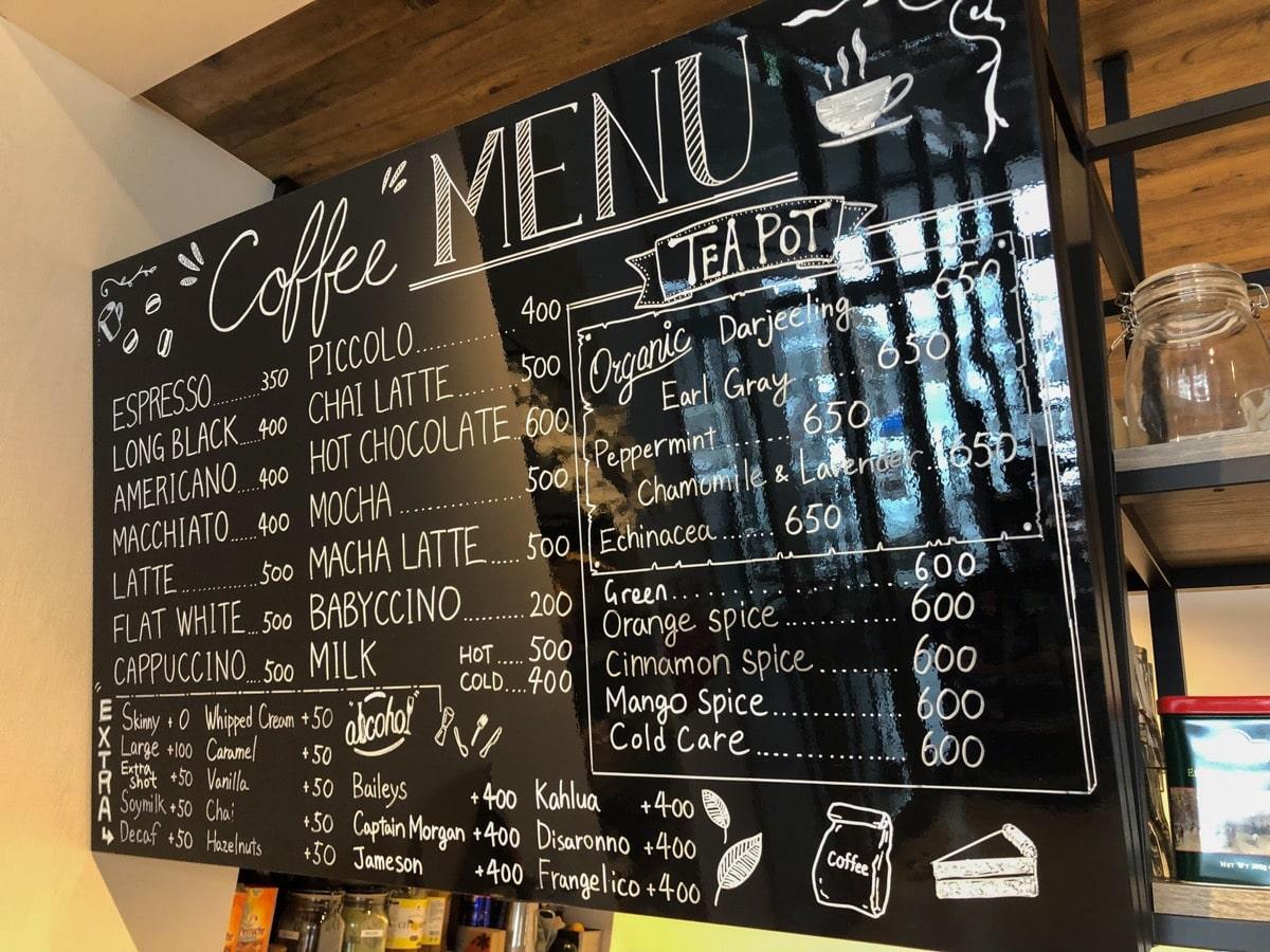 Green farm cafe 13ドリンクメニュー
