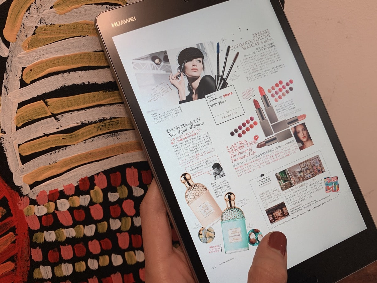 Tablet use 7雑誌