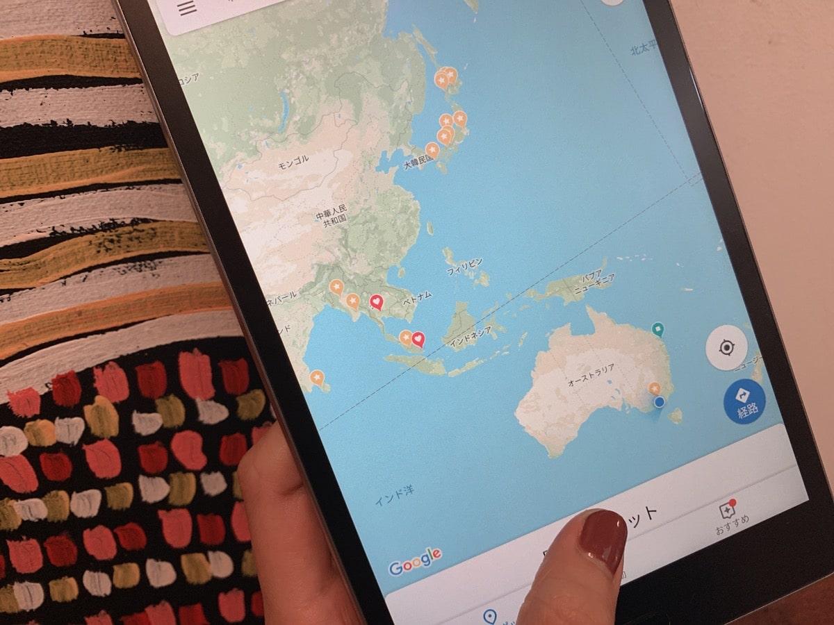 Tablet use 9GoogleMap