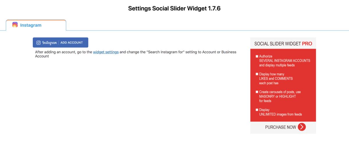 Instagram slider 1アカウント連携