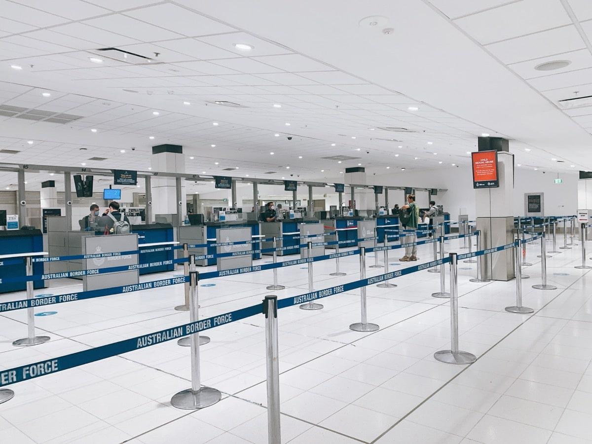 Australia kikoku202009 8シドニー空港手続き