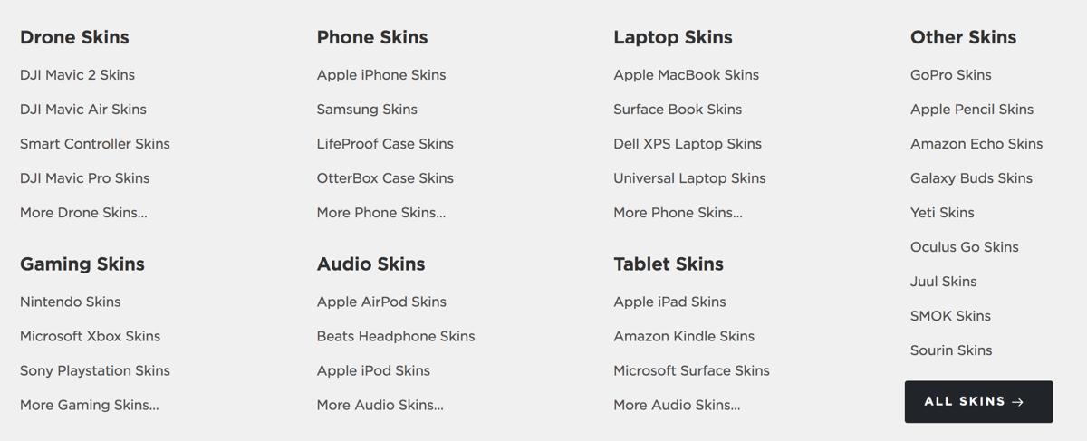 Decalgirl skins 21スキンシール対応デバイス