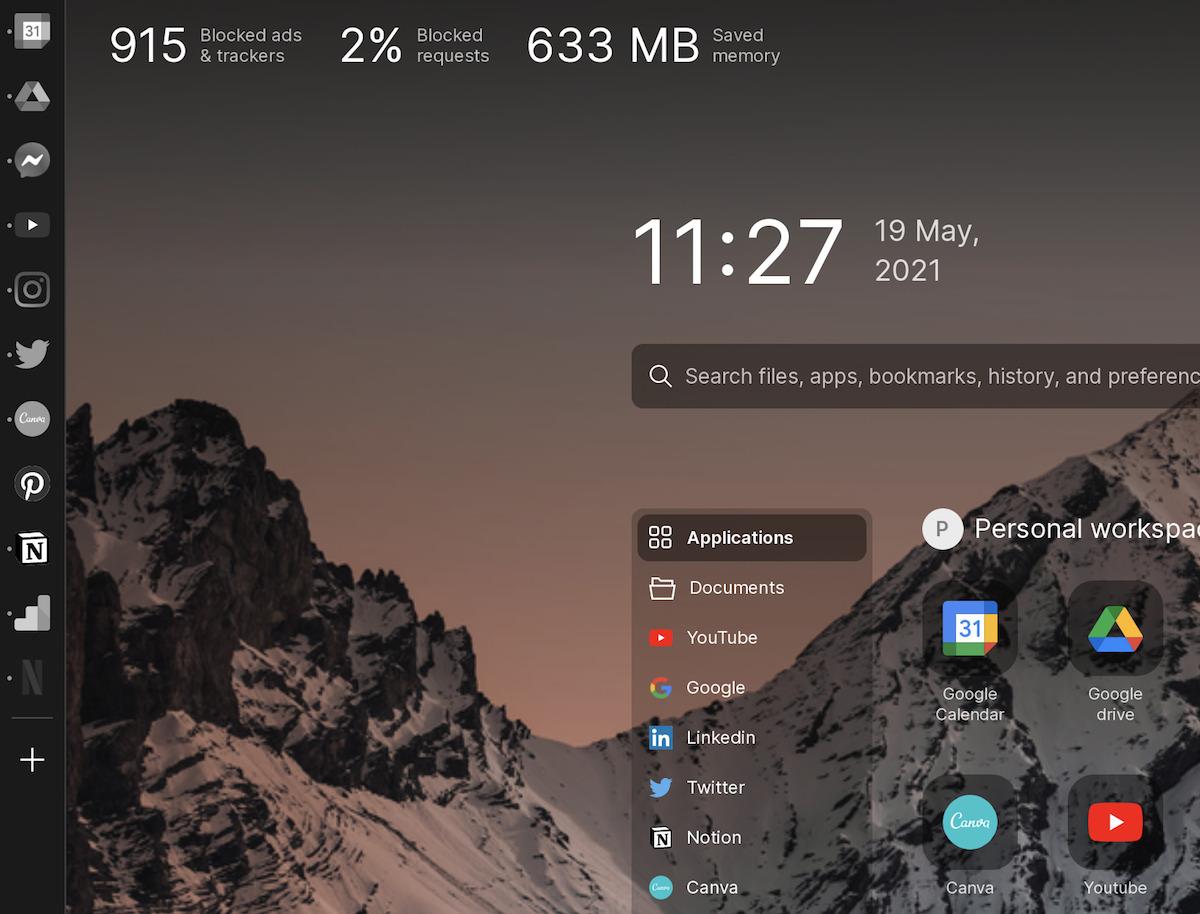 Sidekick browser 7アイコングレースケール