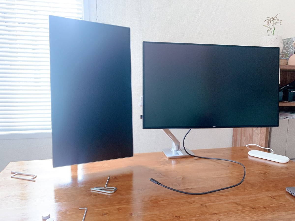 Dual display vertical 17設置完了